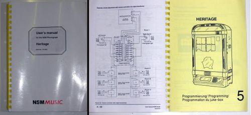 Manual for NSM ES5 and 5.1 jukeboxes.